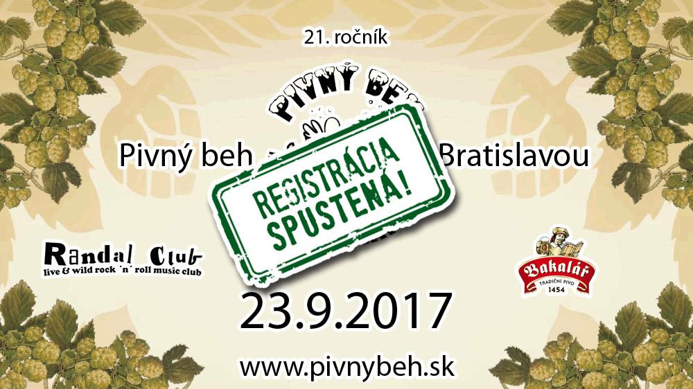 Pivný beh Bratislavou 21 - 23.9.2017 RANDAL CLUB
