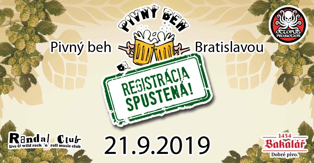 Pivný beh Bratislavou 23 - registrácia spustená!