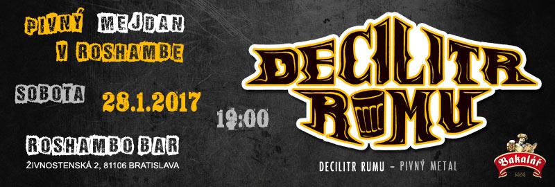 Koncert Decilitr Rumu v Roshambe